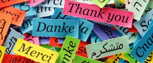 """""""Thank you"""" in modern languages"""